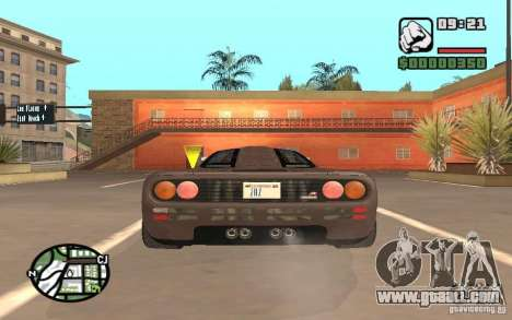McLaren F1 for GTA San Andreas right view