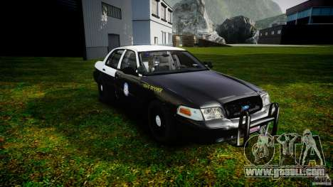 Ford Crown Victoria 2003 CVPI [ELS] for GTA 4 back view