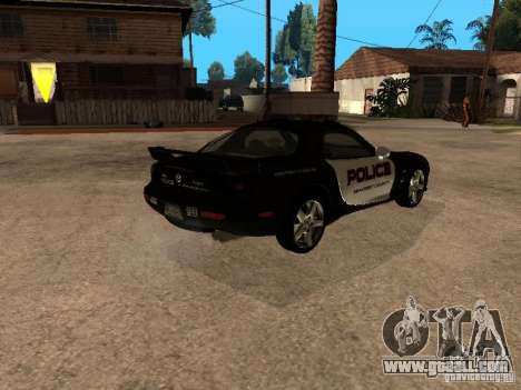 Mazda RX-7 Police for GTA San Andreas back left view