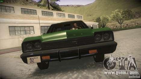 Dodge Monaco for GTA San Andreas upper view