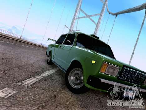VAZ 2107 for GTA San Andreas interior