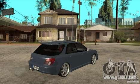 Subaru Impreza Universal for GTA San Andreas inner view