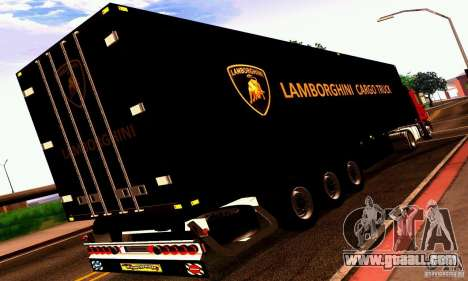 Lamborghini Cargo Truck for GTA San Andreas right view