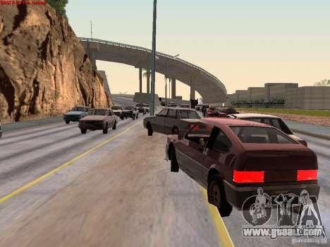 Realistic traffic stream for GTA San Andreas second screenshot