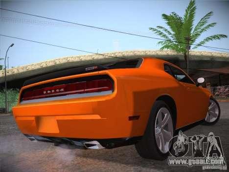 Dodge Challenger SRT8 v1.0 for GTA San Andreas back view