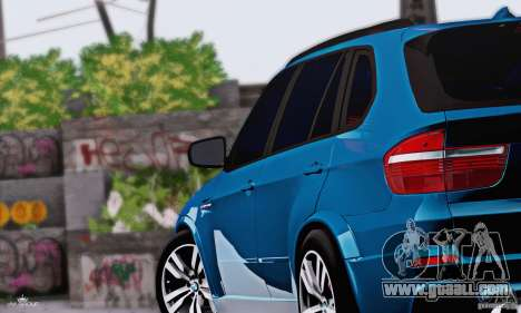 BMW X5M 2013 v1.0 for GTA San Andreas back left view