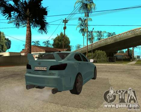 2007 Lexus IS350 for GTA San Andreas back left view