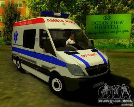 Mercedes-Benz Sprinter Baku Ambulans for GTA San Andreas