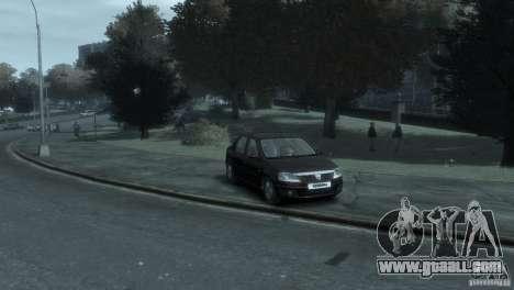 RENAULT LOGAN for GTA 4 left view