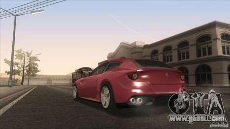 Ferrari FF 2011 V1.0 for GTA San Andreas interior