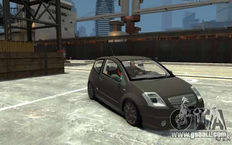 Citroen C2 for GTA 4 back view