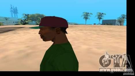 Baseball Cap with the logo of the band HIM for GTA San Andreas forth screenshot