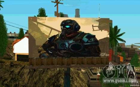 Billboards In GEARS OF WAR for GTA San Andreas second screenshot