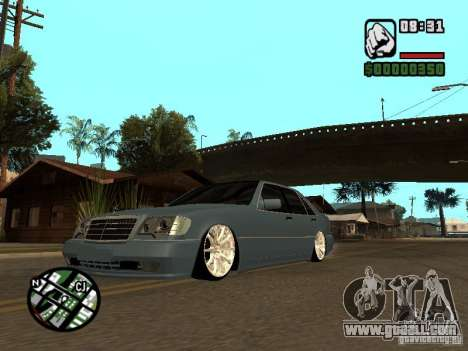 Mercedes-Benz S600 for GTA San Andreas left view