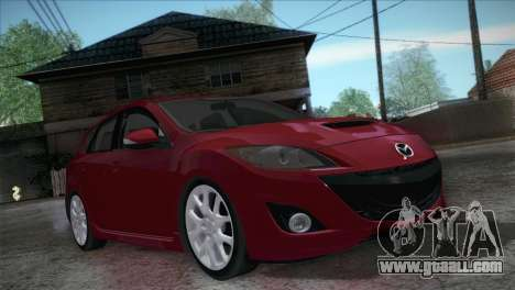Mazda Mazdaspeed3 2010 for GTA San Andreas back view