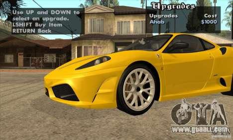 Ferrari F430 Scuderia 2007 for GTA San Andreas back left view