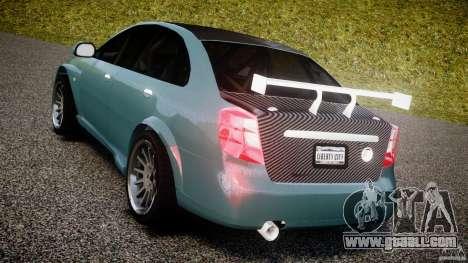 Chevrolet Lacetti WTCC Street Tun [Beta] for GTA 4 back left view