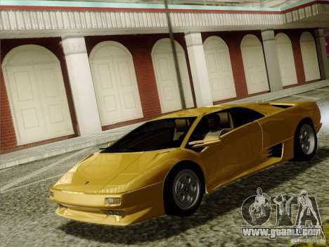 Lamborghini Diablo VT 1995 V3.0 for GTA San Andreas inner view