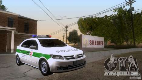 Volkswagen Voyage Policija for GTA San Andreas back view