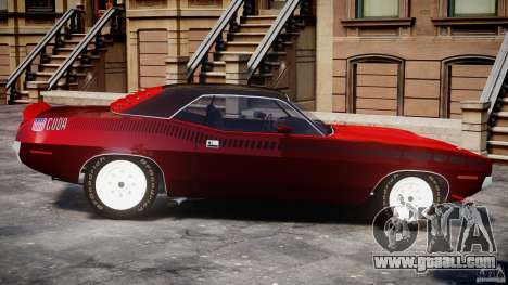 Plymouth Cuda AAR 340 1970 for GTA 4 left view
