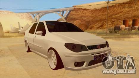 Fiat Albea for GTA San Andreas back view