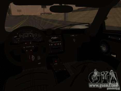 Pagani Zonda Cinque for GTA San Andreas side view