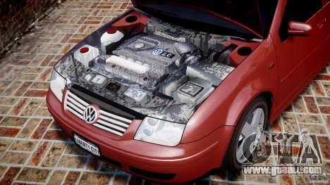 Volkswagen Bora for GTA 4 inner view
