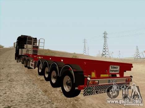 MAN TGX 8 x 4 trailer for GTA San Andreas