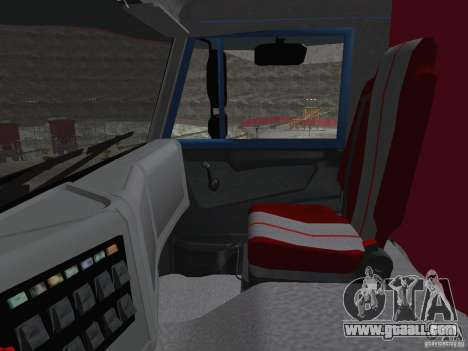 KAMAZ 65222 for GTA San Andreas inner view