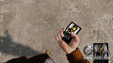 The theme of Mercenaries 2 for mobile phones for GTA 4