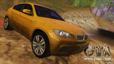 BMW X6M E71 v2 for GTA San Andreas inner view
