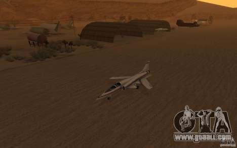 Grumman X29A for GTA San Andreas left view