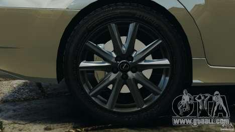 Lexus GS350 2013 v1.0 for GTA 4 upper view