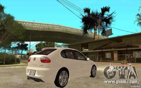 Seat Leon Cupra - Stock for GTA San Andreas right view