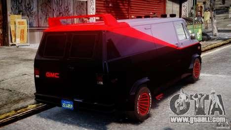 GMC Vandura A-Team Van 1983 for GTA 4 upper view