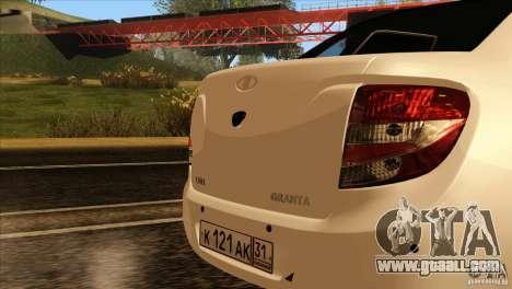 VAZ 2190 Grant for GTA San Andreas inner view