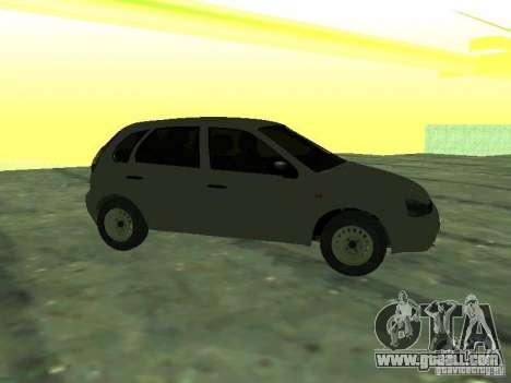 LADA 1119 Hatchback Kalina for GTA San Andreas back left view