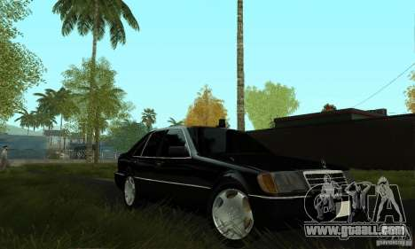 Mercedes-Benz 400 SE w140 Deputat Style for GTA San Andreas right view