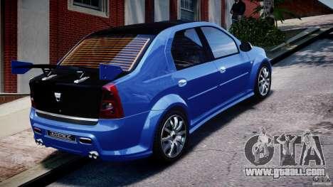 Dacia Logan 2008 [Tuned] for GTA 4 upper view