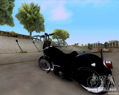 Harley Davidson FXD Super Glide for GTA San Andreas left view