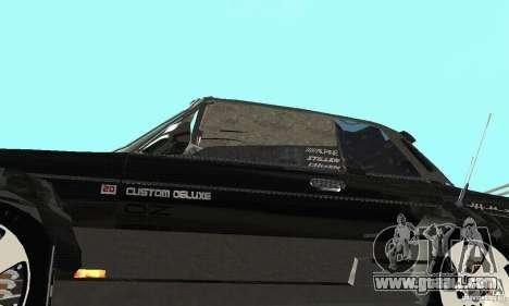 VAZ 2106 Fantasy ART tunning for GTA San Andreas inner view