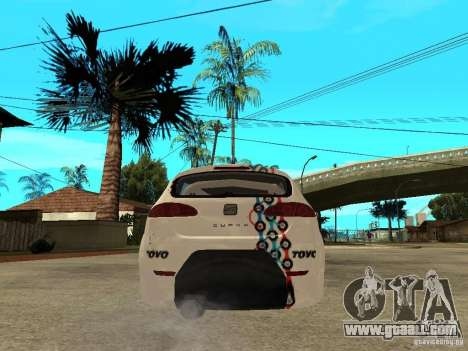 Seat Leon Cupra Bound Dynamic for GTA San Andreas back left view