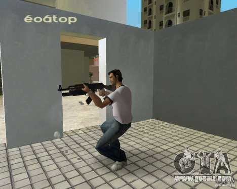 AK-47 with a grenade launcher М203 for GTA Vice City second screenshot