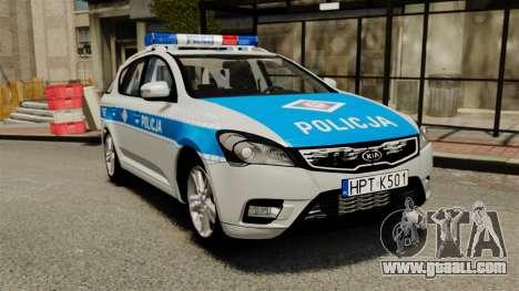Kia Ceed 2011 SW Polish Police ELS for GTA 4