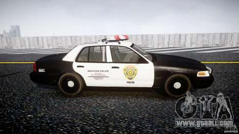 Ford Crown Victoria Raccoon City Police Car for GTA 4 inner view