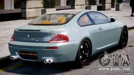 BMW M6 G-Power Hurricane for GTA 4 upper view