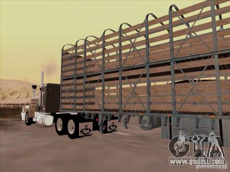 Mack RoadTrain for GTA San Andreas inner view