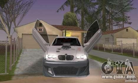 BMW M3 Hamman Street Race for GTA San Andreas back view