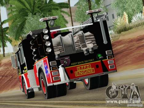 Seagrave Marauder Engine SFFD for GTA San Andreas side view