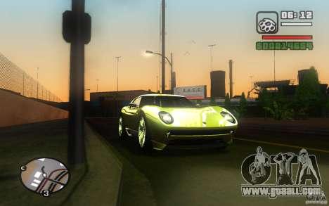 Lamborghini Miura Concept for GTA San Andreas back view
